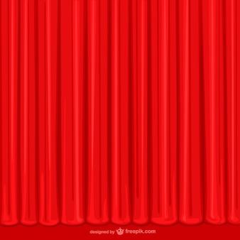 手描きの赤いカーテン
