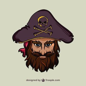 海賊の顔のイラスト