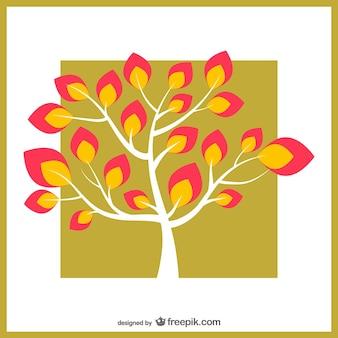 カラフルな葉を持つツリー