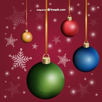 オシャレなクリスマスカードの背景ベクトル