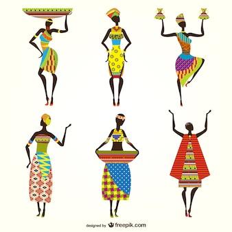 アフリカの女性のベクトル