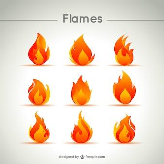 Пламя значок вектор
