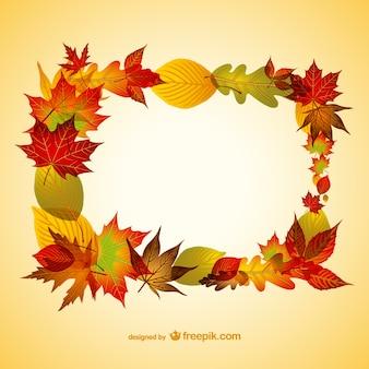 葉のベクトル図と秋の背景