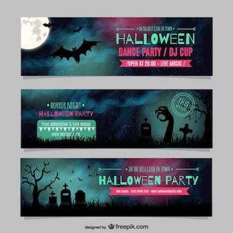 Хэллоуин танец партийные шаблоны баннеров