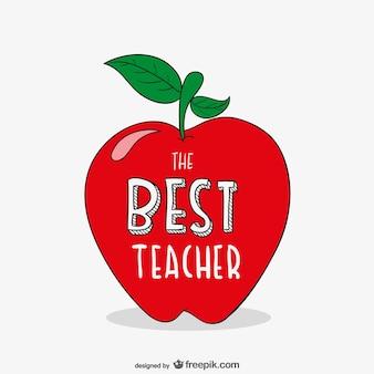 リンゴと最良の教師のタイポグラフィ