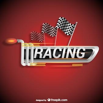 レーシングのロゴベクトル