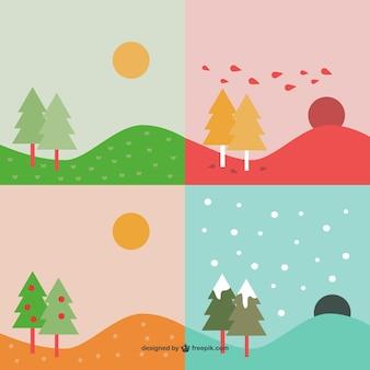 Четыре сезона фоны