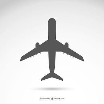 飛行機のシルエットベクトル