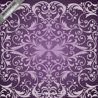 紫色のダマスク模様の背景