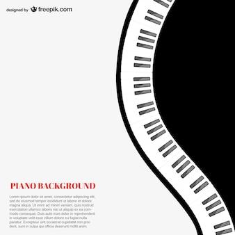 ピアノ背景テンプレート