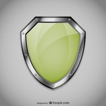 無料の緑のシールドベクトル