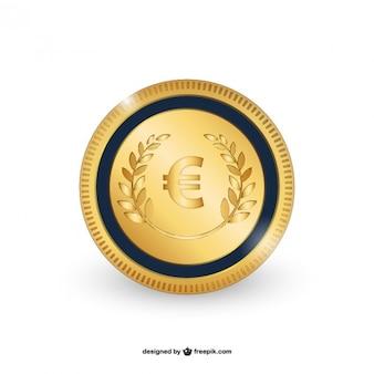 Вектор монета евро
