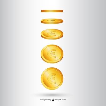 黄金のコインベクトル