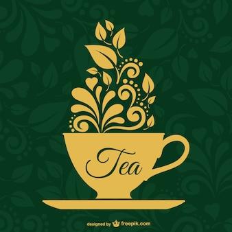 ヴィンテージ茶ベクター設計