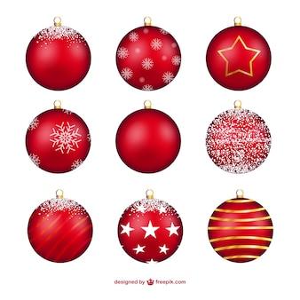 Красные рождественские безделушки