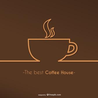 最高のコーヒーハウスのロゴベクトル