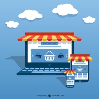 Электронной бизнес-концепции вектор