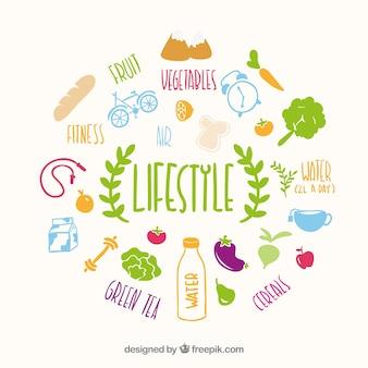 健康的なライフスタイルベクトル