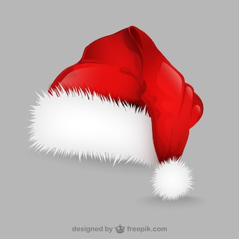 サンタクロースの帽子のイラスト