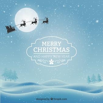 雪に覆われたクリスマスカード