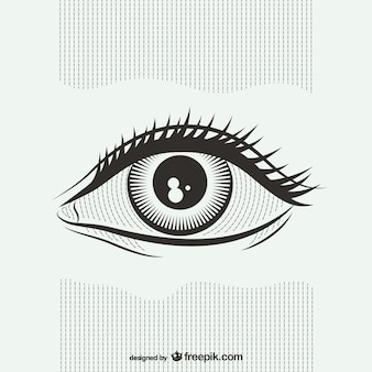 黒と白の眼のイラスト
