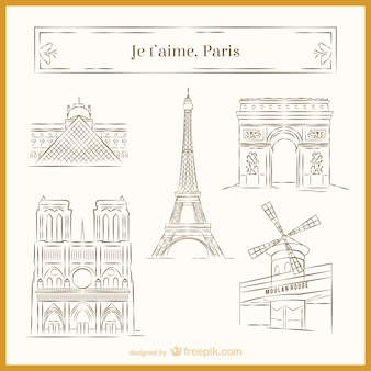Париж эскизы