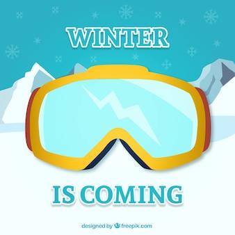 冬はゴーグルに来ています