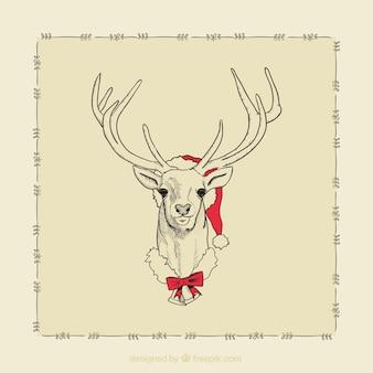 Северный олень с рождественские украшения