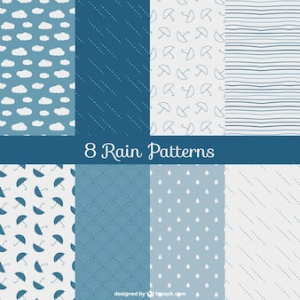 Шаблоны дождь пакет