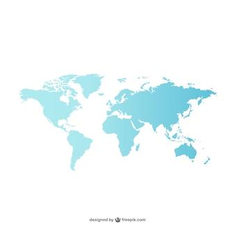Синий карта мира