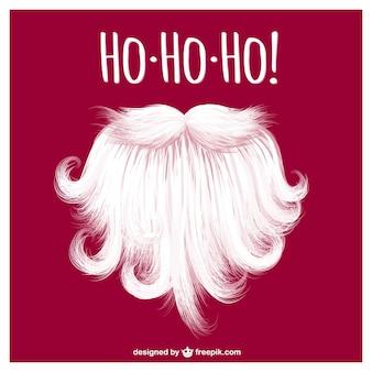 Санта-клаус борода вектор