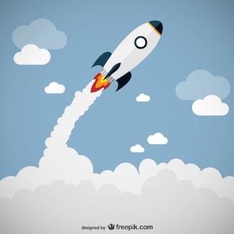 Запуск ракеты вектор