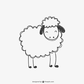 羊落書きベクトル