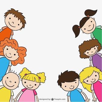 幼稚園の子供たちが描きます
