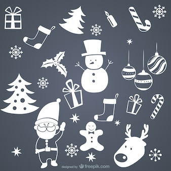 ホワイトクリスマスの要素