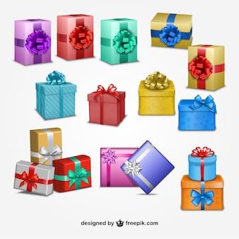 Рождественские настоящий коробки
