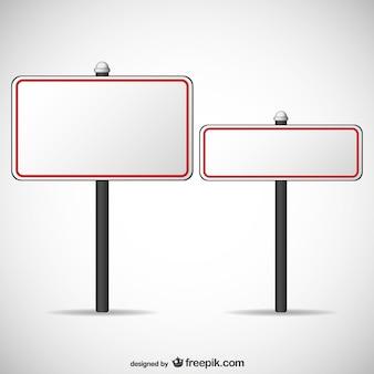 Бесплатные пустые рекламные щиты