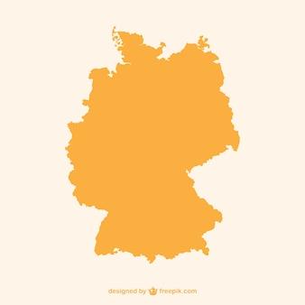 オレンジドイツのシルエット