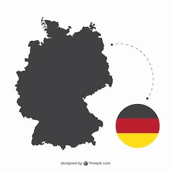 ドイツのシルエットとフラグ