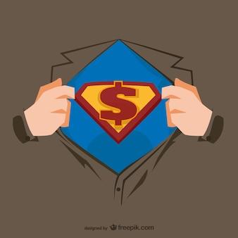 スーパーヒーローの胸のイラスト