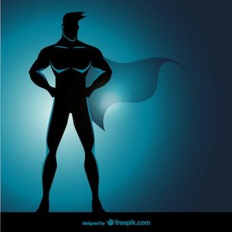 スーパーヒーローに立ってポーズ