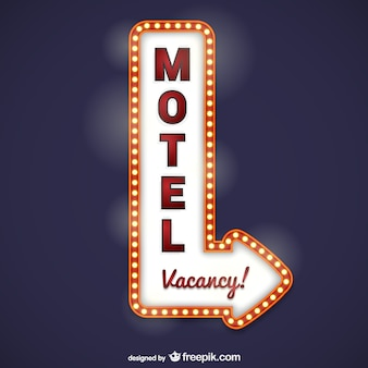 モーテルの看板