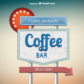コーヒーバーの看板