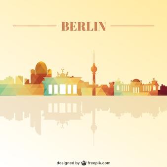 ベルリンのランドマークのスカイライン