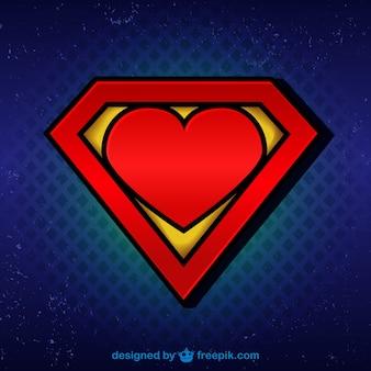 Супермен логотип с сердцем