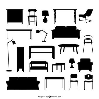 Мебель силуэты