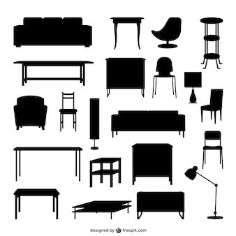 家具のアウトライン