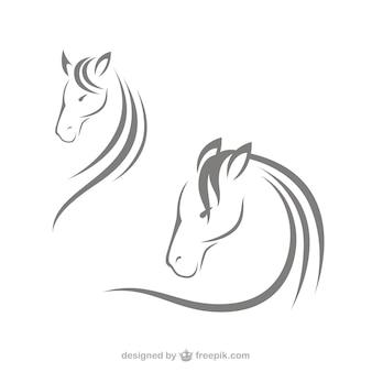 馬の頭部のロゴ