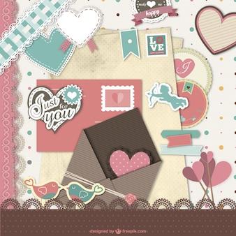 バレンタインスクラップブック