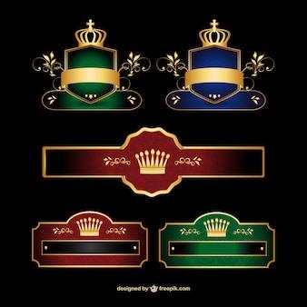 Стильный баннер набор векторный логотип
